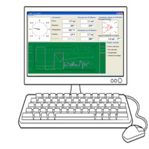 logiciel d'enregistrement des données du vent