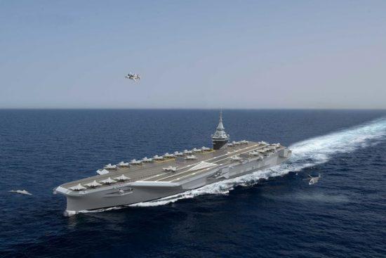 porte-avions mesure du vent