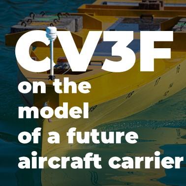 ultrasonic wind sensor on future aircraft carrier